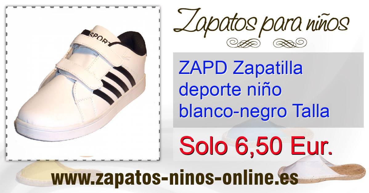 Talla Deporte Niño 37 Negro Zapatilla Blanco Zapd AXCwq5T