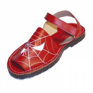 Spiderman - Avarca - Menorquina piel ni�o Spiderman Talla 31